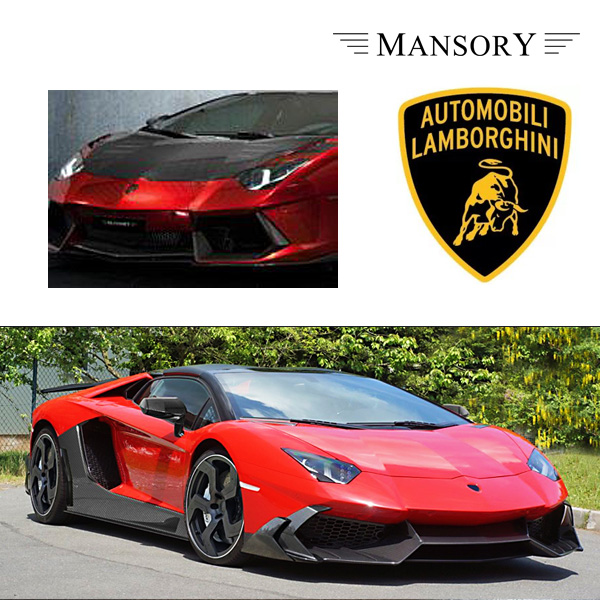 【MANSORY/マンソリー】Lamborghini/ランボルギーニ アヴェンタドール専用 MANSORY / マンソリー エアロボンネット VisibleCarbon カーボン 純正バンパー対応