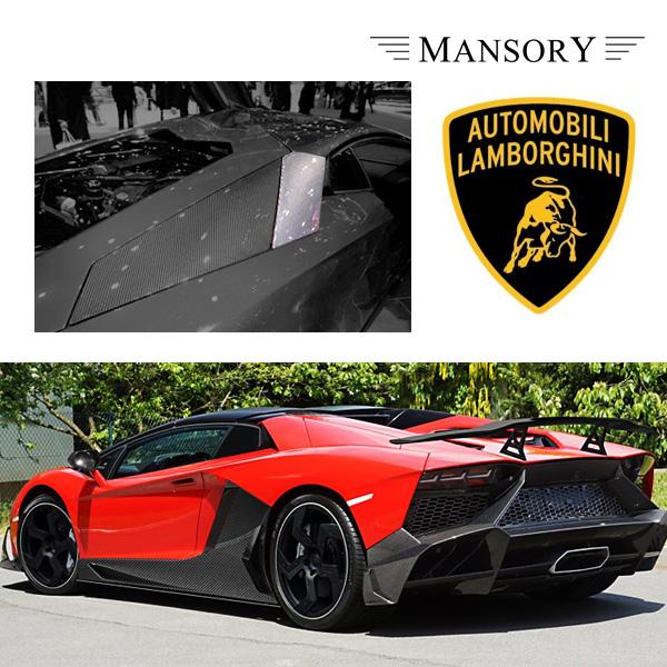 【MANSORY/マンソリー】Lamborghini/ランボルギーニ アヴェンタドール専用 MANSORY / マンソリー サイドエアインテイク ミドル 2PC VisibleCarbon カーボン