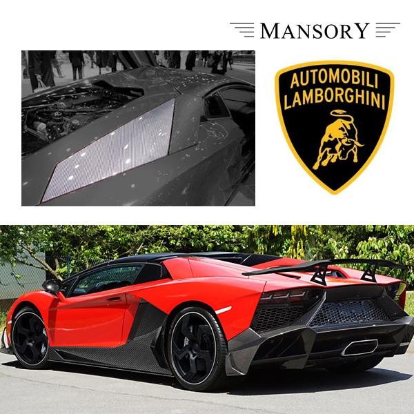 【MANSORY/マンソリー】Lamborghini/ランボルギーニ アヴェンタドール専用 MANSORY / マンソリー サイドエアインテイクカバー リア 2PC VisibleCarbon カーボン