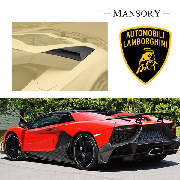 【MANSORY/マンソリー】Lamborghini/ランボルギーニ アヴェンタドール専用 MANSORY / マンソリー リプレイスメントビッグエアインテイク 2PC VisibleCarbon カーボン