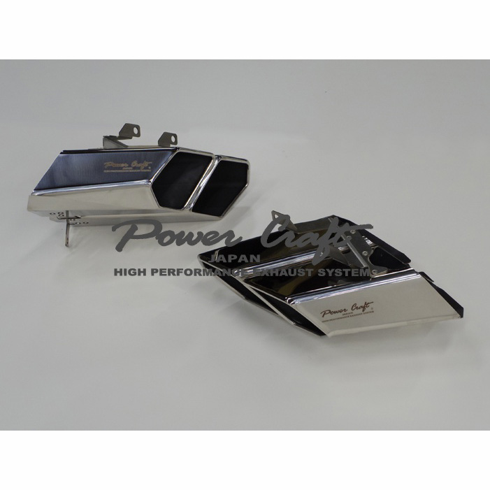 LAMBORGHINI ランボルギーニ HURACAN ウラカン POWERCLAFT パワークラフト ハイブリッドエキゾーストマフラー用 SUSスクエアテールセット
