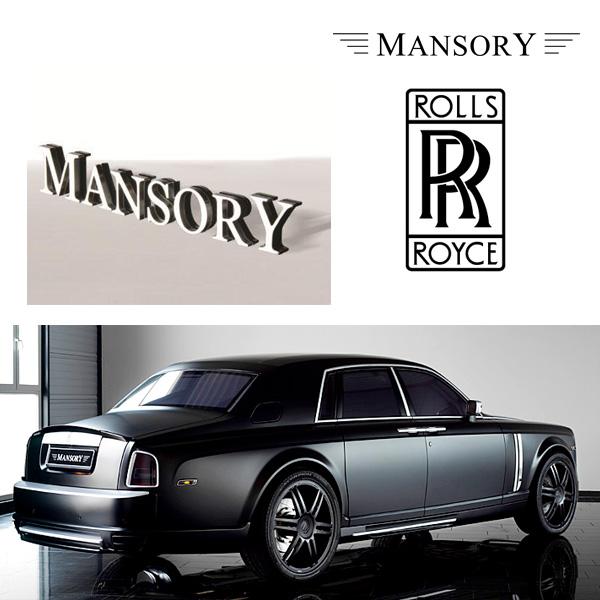【MANSORY/マンソリー】Rolls-Royce/ロールスロイス ファントム専用 MANSORY / マンソリー リアエンブレム MANSORYロゴ