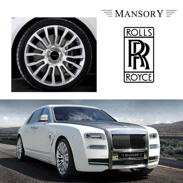 【MANSORY/マンソリー】Rolls-Royce/ロールスロイス ゴーストシリーズ 1 / 2 ドーン 専用 MANSORY / マンソリー アルミホイール M8/1 22インチ 10J シルバーポリッシュ 1本