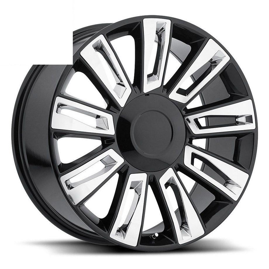ホイール 2015エスカレードオプションモデル ブラック/クローム 22インチ 純正タイプ【アメ車パーツ】