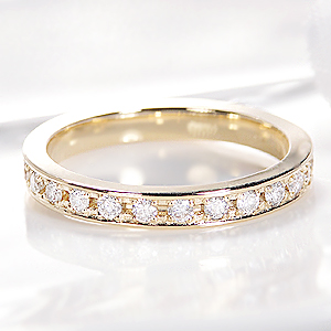 K18【0.5ct】 フチあり ダイヤ フルエタニティリング【無色透明】【H-SIクラス】 ファッション 指輪 ゴールド 18金 ダイヤモンド フルエタ 無垢 送料無料 品質保証書 刻印無料 プレゼント