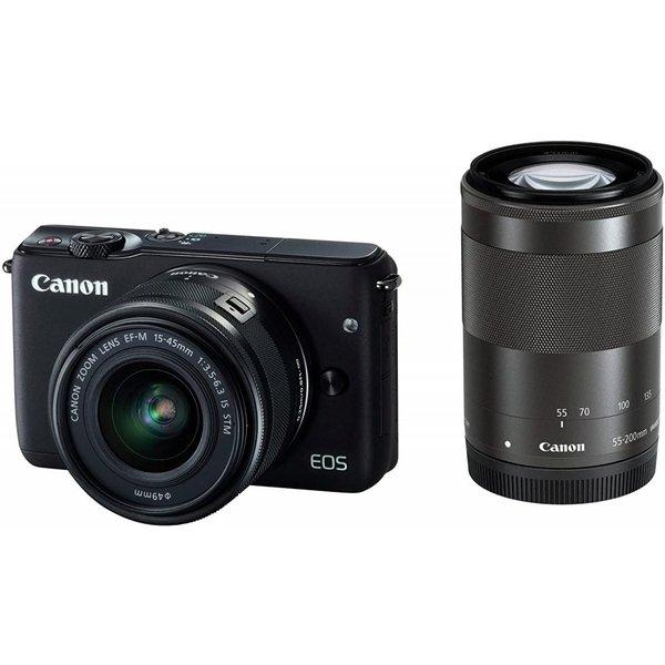 THE 5大特典 プレゼント対象品 8 31まで キヤノン 注文後の変更キャンセル返品 ダブルズームキット Canon EOS 物品 M10 ブラック