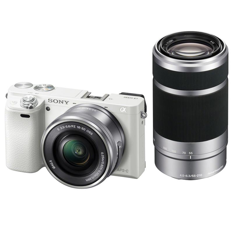 【キャッシュレス5%還元対象店】SONY ソニー ミラーレス一眼カメラ α6000 ダブルズームレンズキット (ILCE-6000Y W) ホワイト