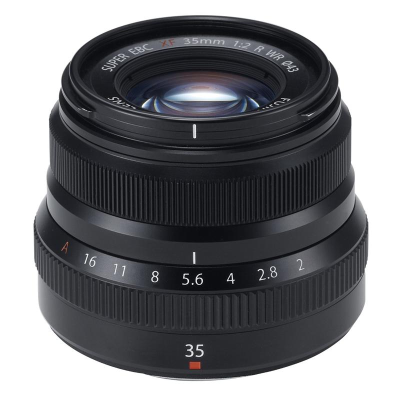 【4月12日20:00-16日1:59 カード決済でポイント9倍!】FUJIFILM フジフイルム 標準単焦点レンズ XF 35mm F2 R WR ブラック