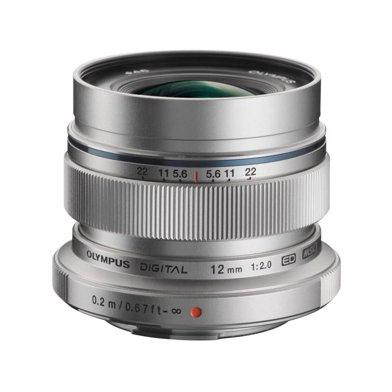 OLYMPUS オリンパス マイクロフォーサーズ用単焦点レンズ M.ZUIKO DIGITAL ED 12mm F2.0 シルバー