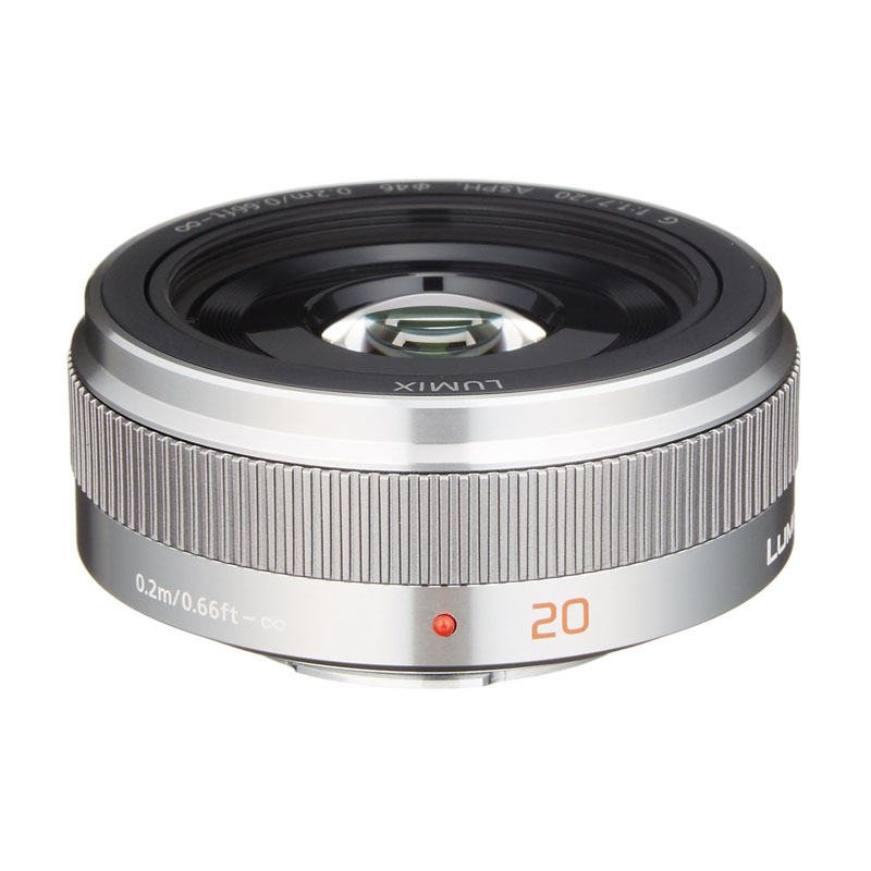 Panasonic パナソニック LUMIX G 20mm / F1.7 II ASPH. シルバー (H-H020A-S) 大口径・単焦点レンズ マイクロフォーサーズ用