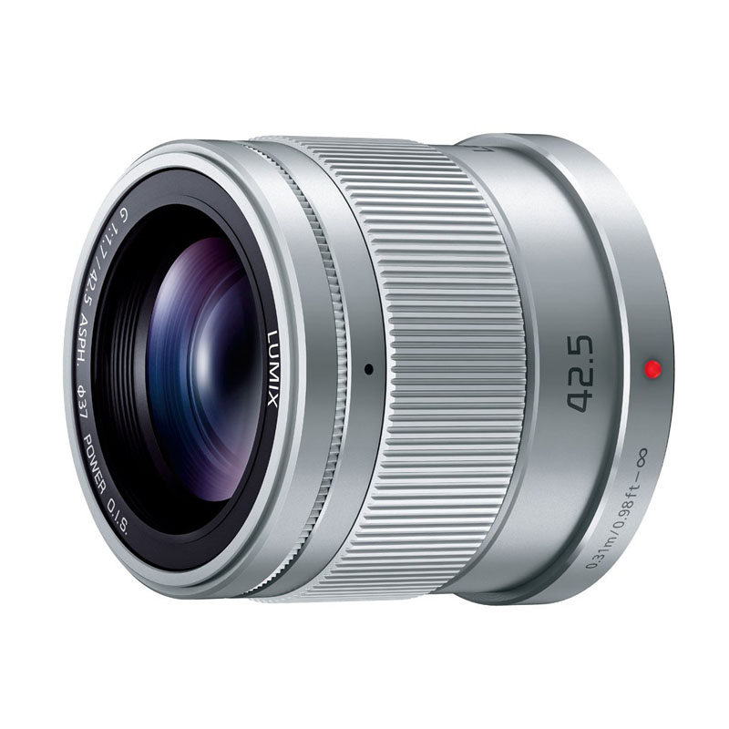 Panasonic パナソニック LUMIX G 42.5mm / F1.7 ASPH. / POWER O.I.S. シルバー (H-HS043-S) 大口径・中望遠単焦点レンズ マイクロフォーサーズ用