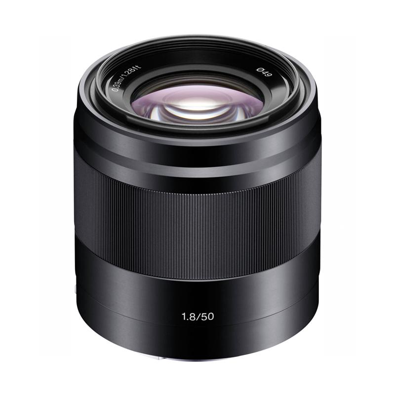【キャッシュレス5%還元対象店】SONY ソニー 中望遠単焦点レンズ E 50mm F1.8 OSS ブラック SEL50F18-B ミラーレス一眼カメラ用