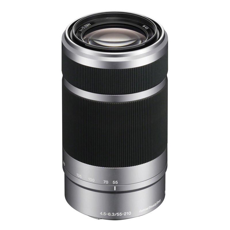 SONY ソニー 望遠ズームレンズ E 55-210mm F4.5-6.3 OSS シルバー SEL55210-S ミラーレス一眼カメラ用 【キャッシュバックキャンペーンILCE-6300Lとセットで20,000円対象】