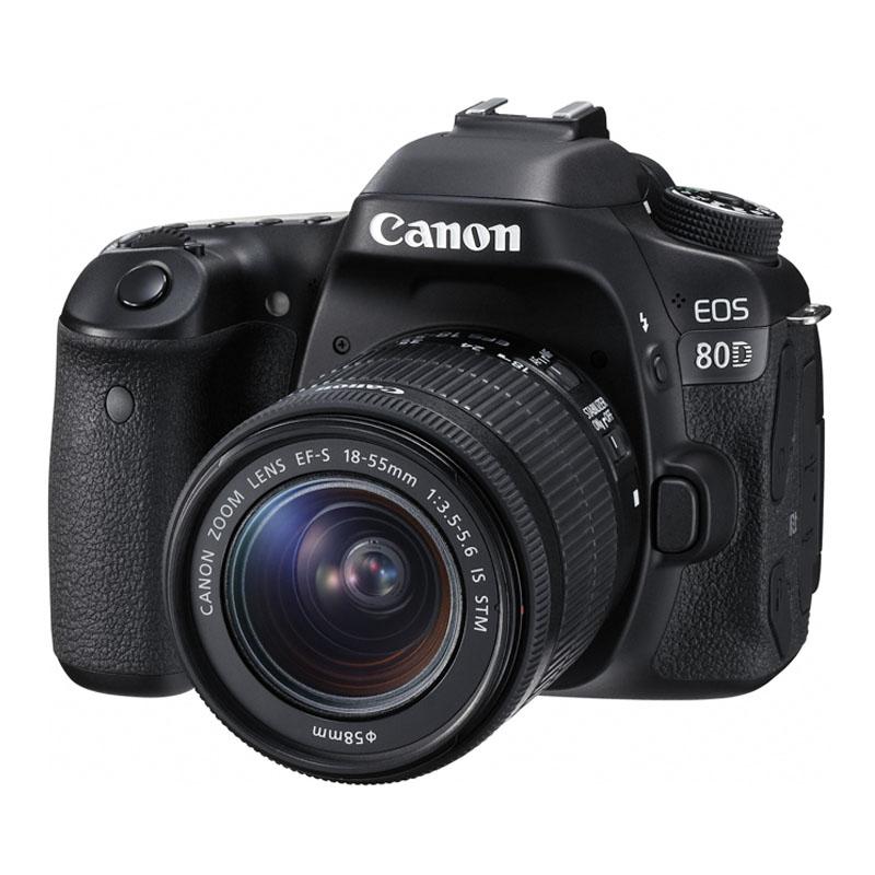 【4月12日20:00-16日1:59 カード決済でポイント9倍!】Canon キヤノン デジタル一眼レフカメラ EOS 80D EF-S18-55 IS STM レンズキット