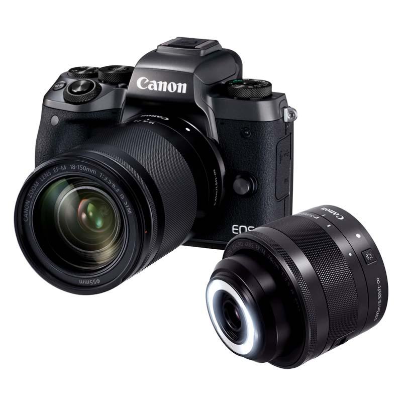 【4月12日20:00-16日1:59 カード決済でポイント9倍!】Canon キヤノン ミラーレス一眼カメラ EOS M5 クリエイティブマクロ ダブルレンズキット