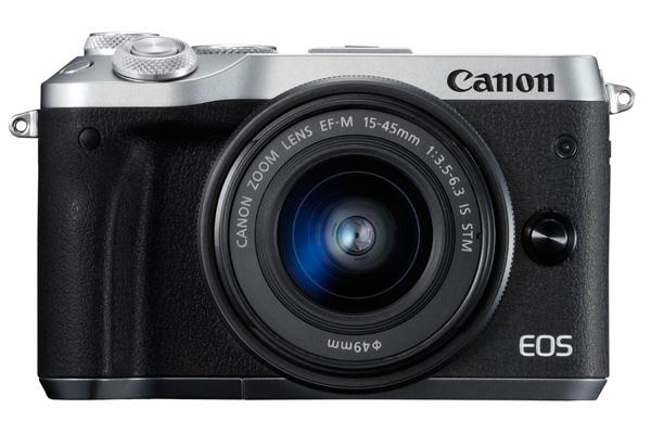 Canon キヤノン ミラーレス一眼カメラ EOS M6 EF-M15-45 IS STMレンズキット シルバー