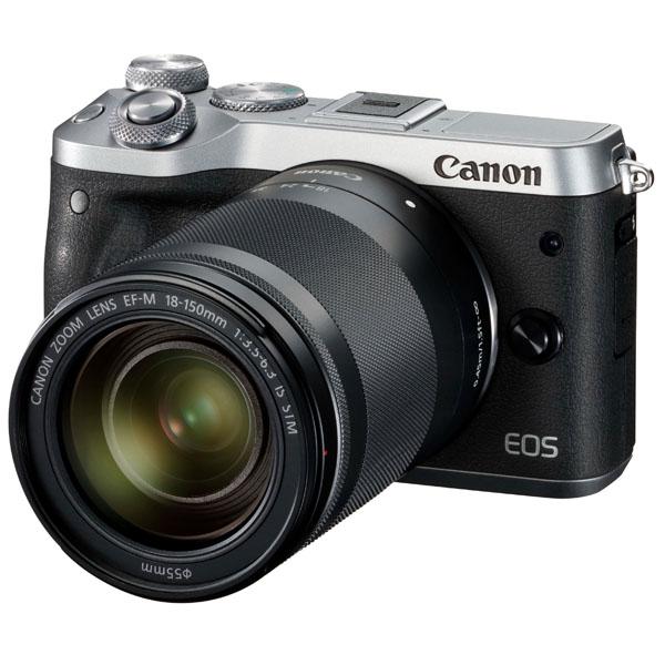 【6月1日0:00-6月1日23:59エントリー&カード決済でポイント8倍!】Canon キヤノン ミラーレス一眼カメラ EOS M6 EF-M18-150 IS STMレンズキット シルバー