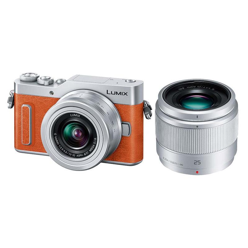 【4月12日20:00-16日1:59 カード決済でポイント9倍!】Panasonic LUMIX GF10 ダブルレンズキット オレンジ (DC-GF10W-D) ミラーレス一眼カメラ