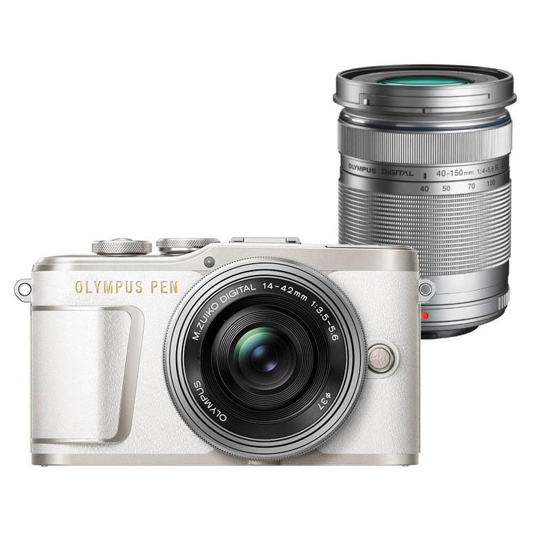 【キャッシュレス5%還元対象店】OLYMPUS オリンパス ミラーレス一眼カメラ PEN E-PL9 EZ ダブルズームキット ホワイト