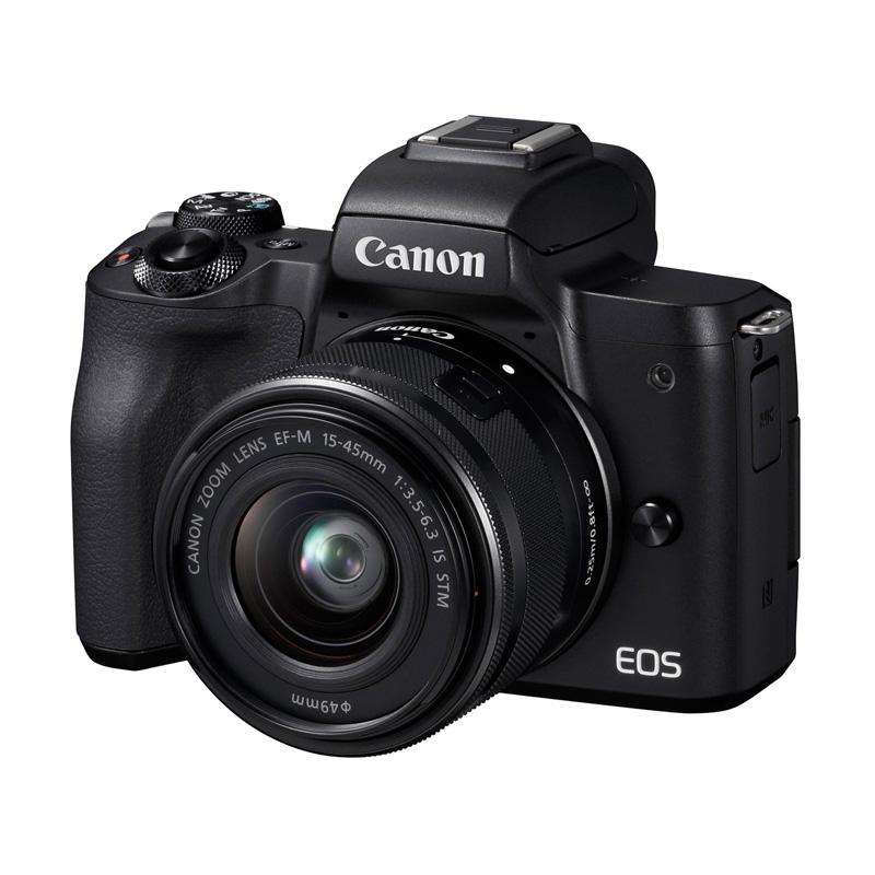 【4月12日20:00-16日1:59 カード決済でポイント9倍!】Canon キヤノン ミラーレス一眼カメラ EOS Kiss M EF-M15-45 IS STM レンズキット ブラック
