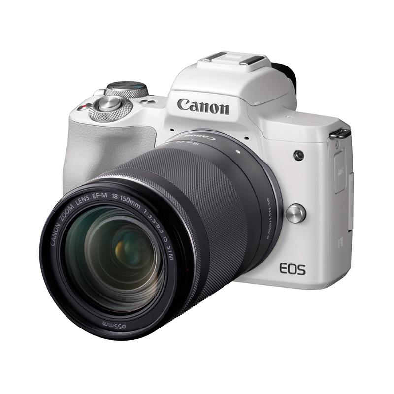【4月12日20:00-16日1:59 カード決済でポイント9倍!】Canon キヤノン ミラーレス一眼カメラ EOS Kiss M EF-M18-150 IS STM レンズキット ホワイト