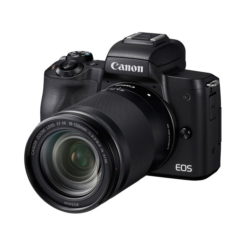 【6月1日0:00-6月1日23:59エントリー&カード決済でポイント8倍!】Canon キヤノン ミラーレス一眼カメラ EOS Kiss M EF-M18-150 IS STM レンズキット ブラック