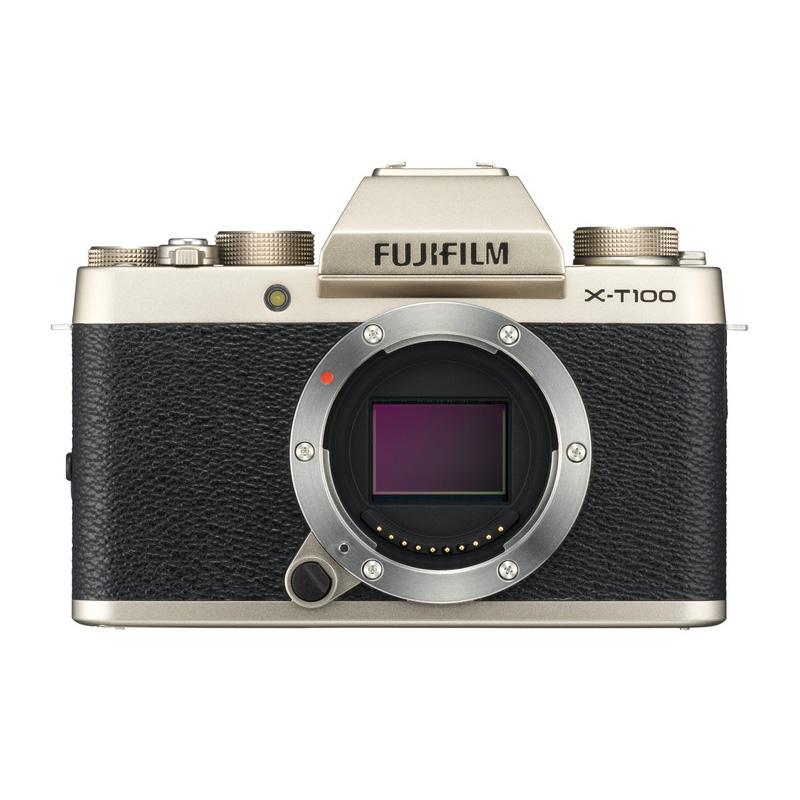 FUJIFILM フジフイルム ミラーレス一眼カメラ X-T100 ボディ シャンパンゴールド