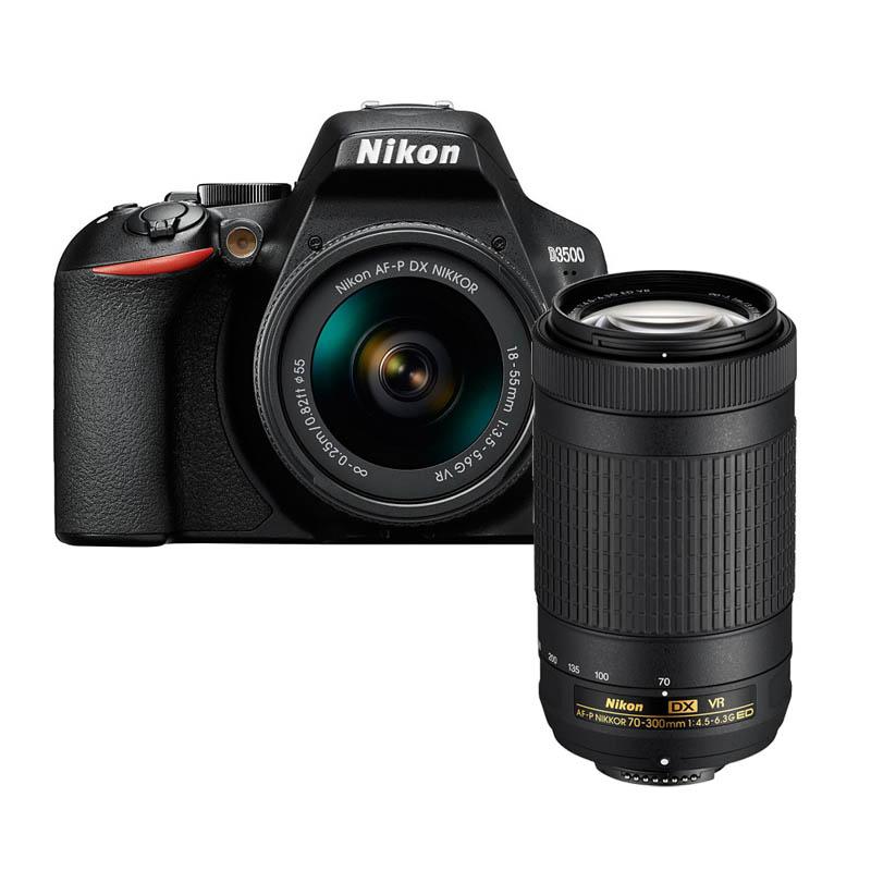 【4月12日20:00-16日1:59 カード決済でポイント9倍!】Nikon ニコン デジタル一眼レフカメラ D3500 ダブルズームキット ブラック