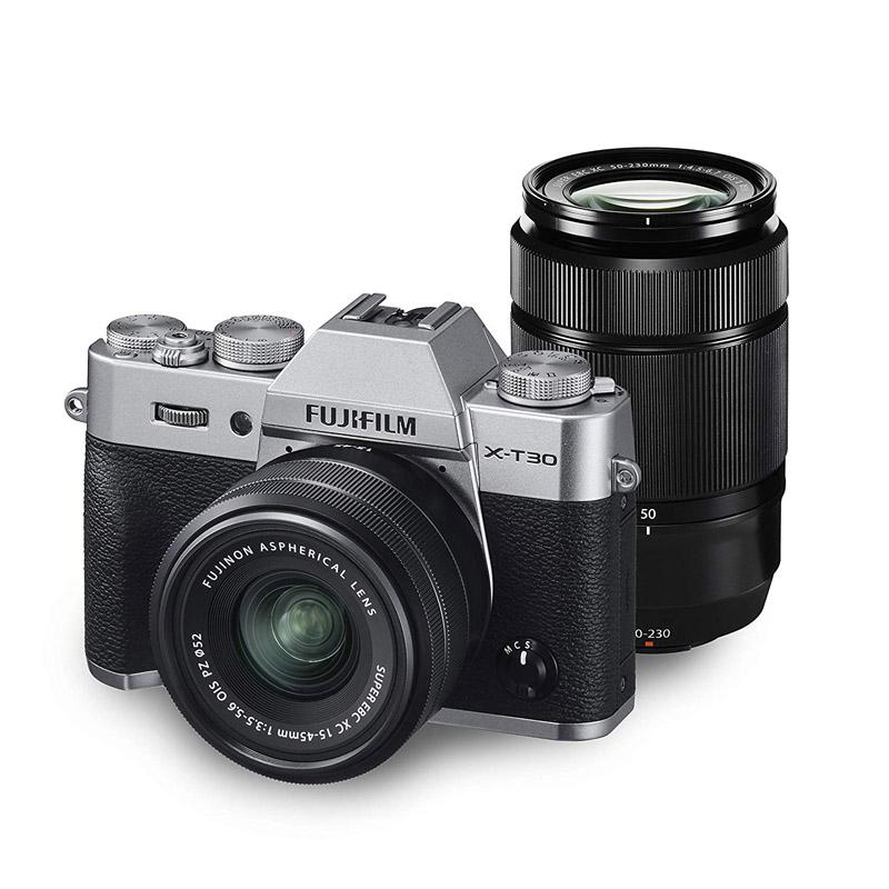 【キャッシュレス5%還元対象店】FUJIFILM フジフイルム ミラーレス一眼カメラ X-T30 ダブルズームレンズキット シルバー