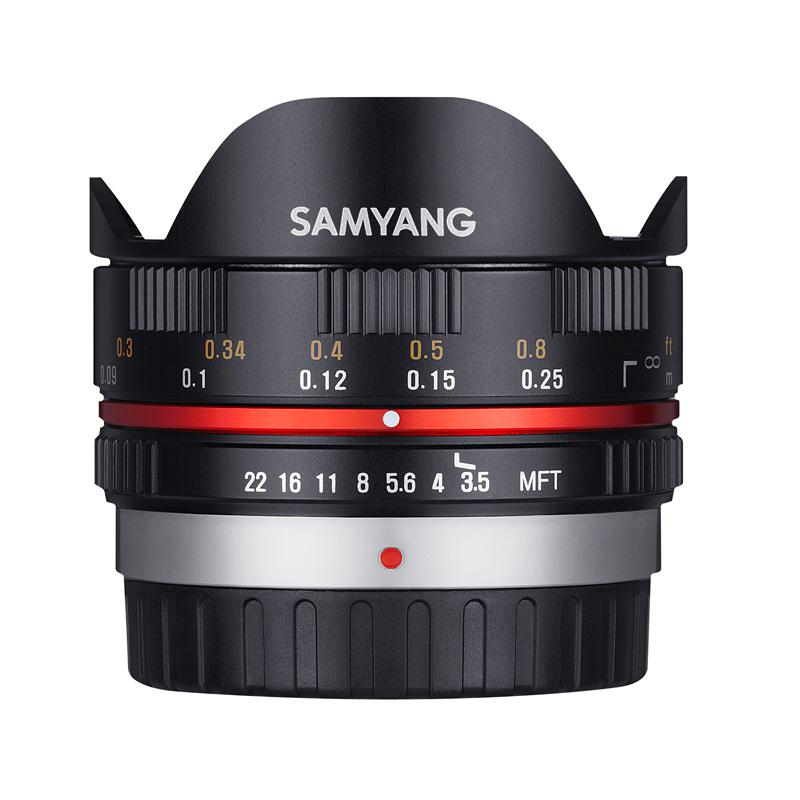 SAMYANG サムヤン フィッシュアイレンズ 7.5mm F3.5 FISH-EYE マイクロフォーサーズ用 ブラック