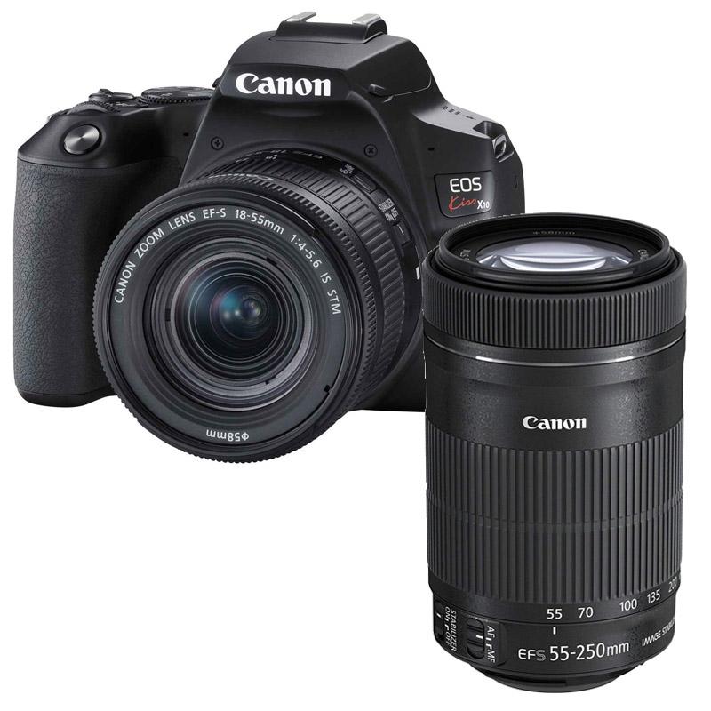 【7月21日20:00-7月26日1:59エントリー&カード決済でポイント最大7倍!】Canon キヤノン デジタル一眼レフカメラ Canon EOS Kiss X10 ダブルズームキット ブラック