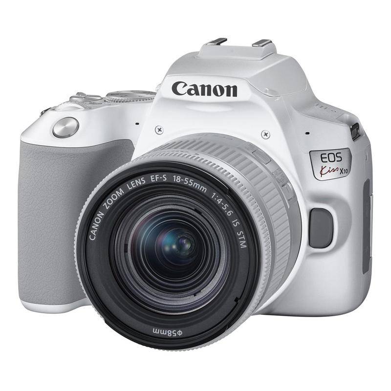 【予約商品】Canon キヤノン デジタル一眼レフカメラ Canon EOS Kiss X10 EF-S18-55 IS STM レンズキット ホワイト 【2019年4月25日発売予定】