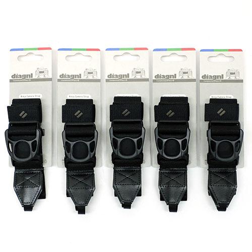 【お得な5本セット、お好きなカラーを!】伸縮自在のニンジャカメラストラップdiagnl(ダイアグナル) Ninja Camera Strap 38mm幅 レギュラータイプ【送料無料】一眼レフ ミラーレス ショルダーストラップ 斜めがけ 長さ調節 日本製