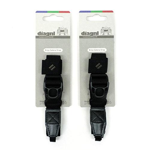 【お得な2本セット、お好きなカラーを!】伸縮自在のニンジャカメラストラップ diagnl(ダイアグナル) Ninja Camera Strap 25mm幅 レギュラータイプ【送料無料】ミラーレス コンデジ 斜めがけ 長さ調節 日本製