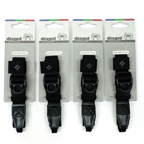 【お得な4本セット、お好きなカラーを!】伸縮自在のニンジャカメラストラップdiagnl(ダイアグナル) Ninja Camera Strap 25mm幅 レギュラータイプ【送料無料】ミラーレス コンデジ 斜めがけ 長さ調節 日本製