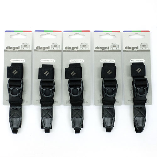 【お得な5本セット、お好きなカラーを!】伸縮自在のニンジャカメラストラップdiagnl(ダイアグナル) Ninja Camera Strap 25mm幅 レギュラータイプ【送料無料】ミラーレス コンデジ 斜めがけ 長さ調節 日本製