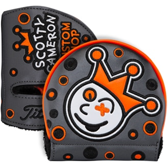 スコッティキャメロン ヘッドカバー カスタムショップ ジャックポットジョニー Jackpot Johnny チャコール / オレンジ (ミッドラウンド)