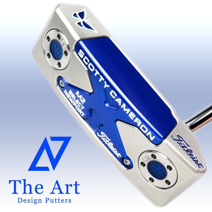格安SALEスタート! カスタムパター Blue Lucky [NEXT] ニューポートM2 Butterfly スコッティキャメロン ノーマルベントシャフト-ゴルフ