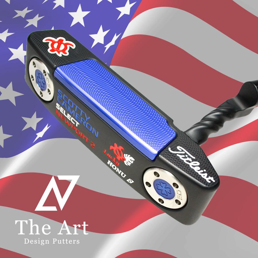 スコッティキャメロン カスタムパター Newport 2 [American Flag Style] Twist Art Neck Black Finish