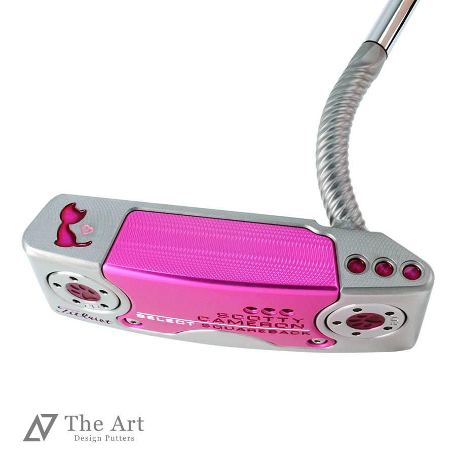 スコッティキャメロン カスタムパター スクエアバック Pink Tiara Charm Cat Twisty Art Screw Neck