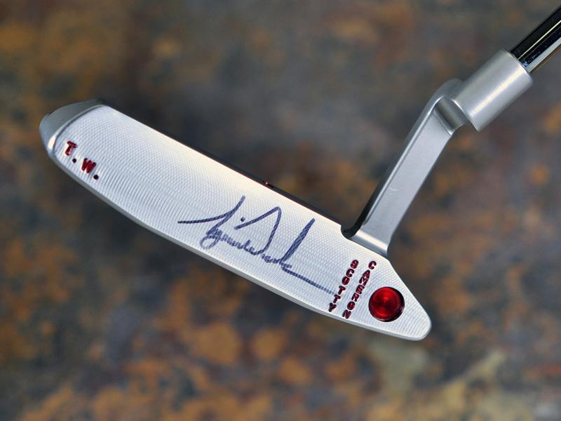 【激レア / タイガーウッズが使用していたパター】スコッティキャメロン ツアーパター Made for Tiger Woods Tour GSS Newport II with rare vertical stamping