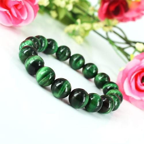 Stone Nature Bracelet Green Tiger Eye Breath Red Accessories Men S