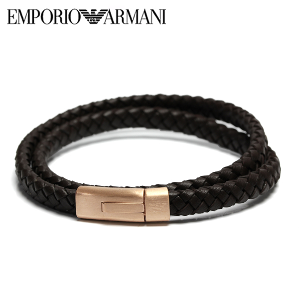 【送料無料】EMPORIO ARMANI エンポリオ アルマーニ メンズ レディース 2重巻きブレスレット アクセサリー egs2175221