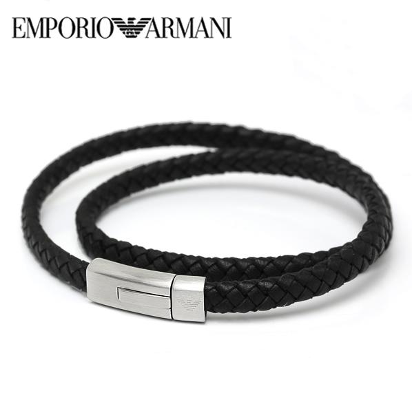 【送料無料】EMPORIO ARMANI エンポリオ アルマーニ メンズ 2重巻きブレスレット アクセサリーegs2176040