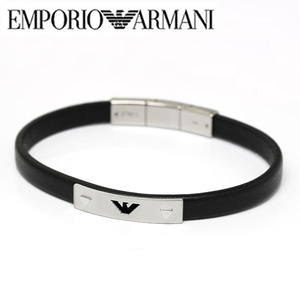 【送料無料】EMPORIO ARMANI エンポリオ アルマーニ メンズ レザー ブレスレット アクセサリーegs2411040