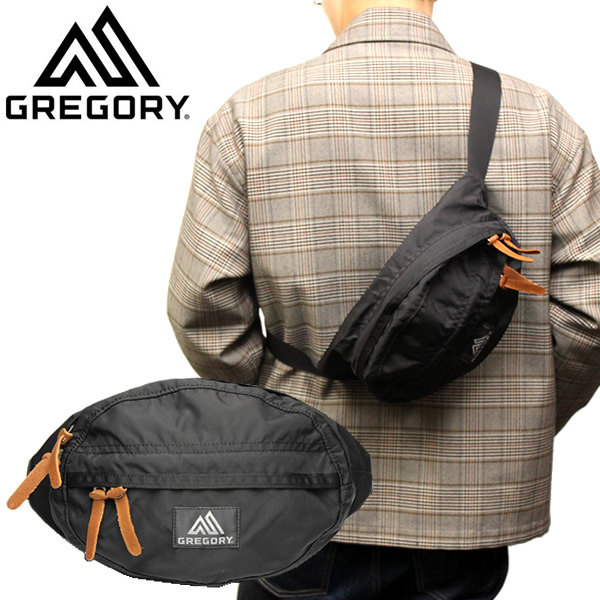 GREGORY グレゴリー バックパック Backpack ユニセックス 斜め掛け 鞄 bag シンプル ブラック 65233-1041 ギフト