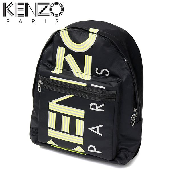 【送料無料】ケンゾー KENZO バッグ メンズ リュック バックパック ラージBLACK ブラック ネオン 蛍光 SF213f38