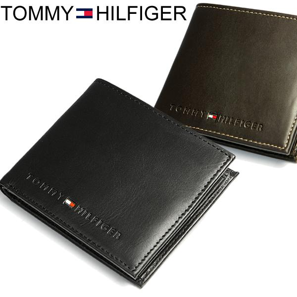 d105aac9 TOMMY HILFIGER Tommy Hilfiger leather leather logo two bi-fold wallet