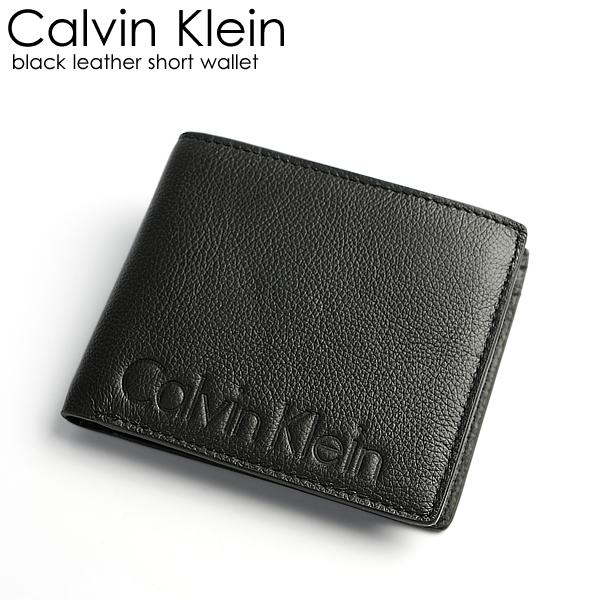 quality timeless design buy online Up to 1,000 yen OFF coupon Calvin Klein Calvin Klein wallet men folio  wallet genuine leather leather logo brand black wallet wallet Men's wallet