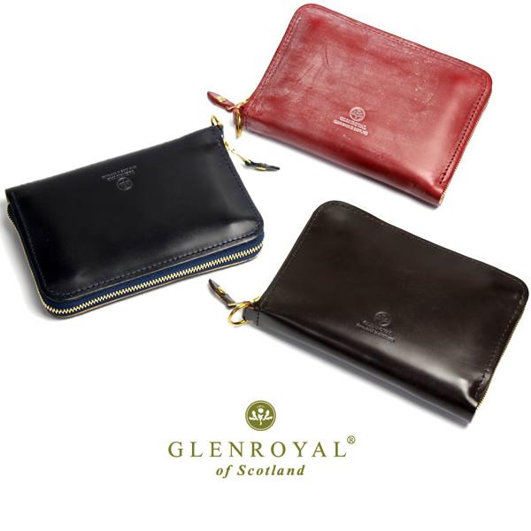 【送料無料】GLENROYAL グレンロイヤル ラウンドファスナー ミドルウォレット 財布 メンズ ブライドルレザー